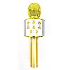 Микрофон караоке круглый, цвет Золото