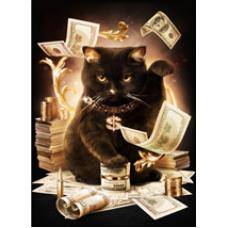 Алмазн. живопись 26*36 ПОЛНОЕ Денежный кот L854