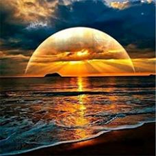 Алмазн. живопись 30*30 ПОЛНОЕ Морской закат L1492