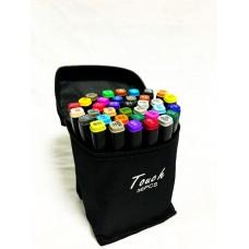 Маркеры для скетчинга, набор 36 цветов черные в сумке