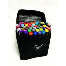 Маркеры для скетчинга, набор 48 цветов черные в сумке