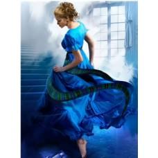 Рисование по номерам 30*40 в раме В синем платье Е936 (26 цветов, 4 звезды)