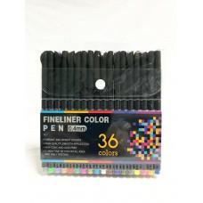 Ручки-линеры, набор 36 цветов