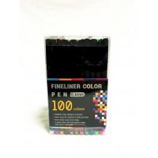 Ручки-линеры, набор 100 цветов